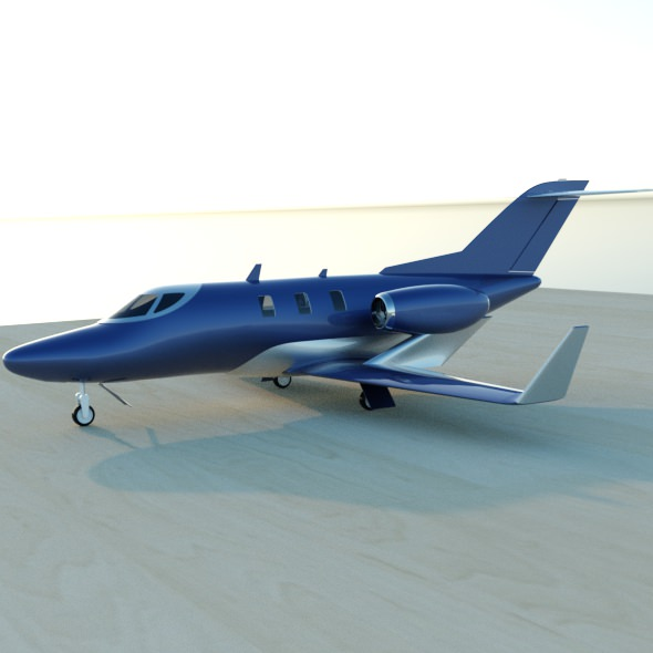 Honda jet private aircraft restyled 3d model fbx lwo lw for Honda private jet