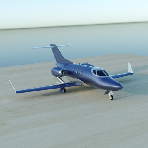 Honda jet private aircraft restyled3D model