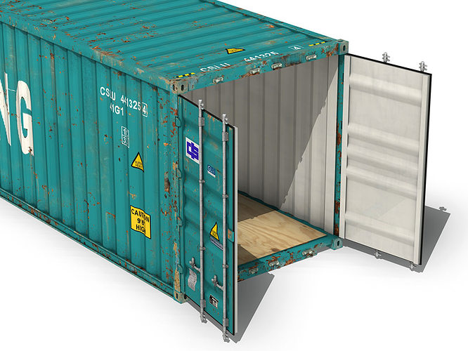 40ft Shipping Container China Shipping 3d Model Obj 3ds