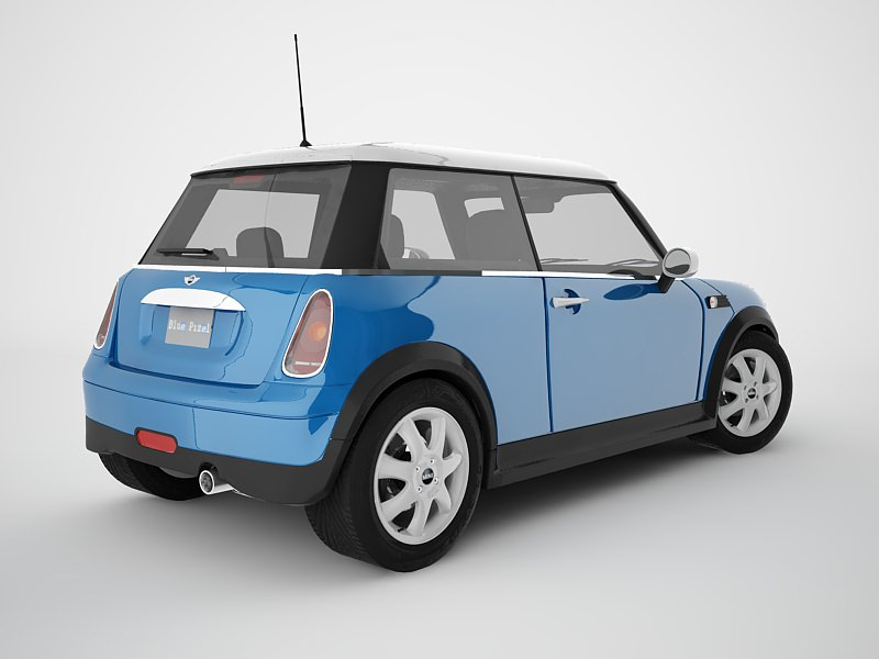 mini cooper 3d model max obj 3ds. Black Bedroom Furniture Sets. Home Design Ideas