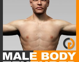 Human Male Body Textured - Anatomy 3D Model