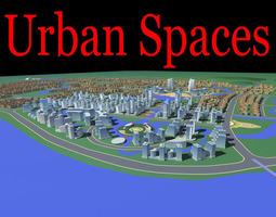 urban designed multiple houses with stadium 3d