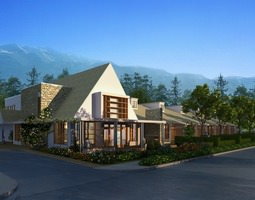 Posh Suburban House 3D