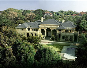 Luxury House with Grand Swimming Pool 3D