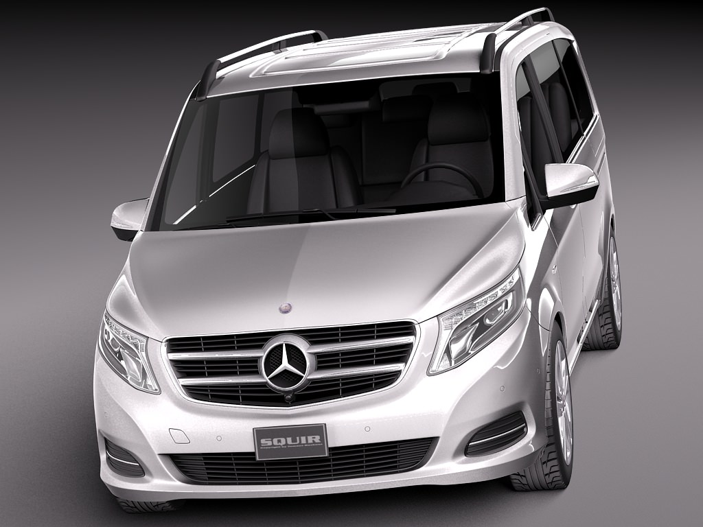 Mercedes benz v class 2015 3d model max 3ds fbx c4d for Mercedes benz e class suv