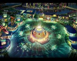 Elite Cityscape with Luxury Decor 3D model