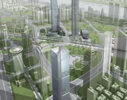 3D Elite Skyscraper with Posh Structure