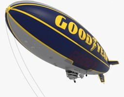 3D model Good Year Blimp zeppelin - 02