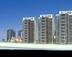 multi-storied posh building designs 3d