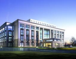 Luxury Office Building Design 3D model
