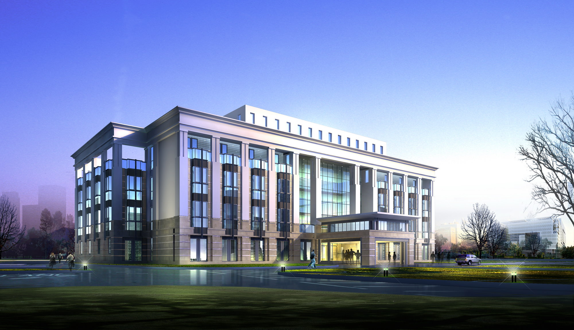 Luxury Office Building Design 3D Model max 3ds