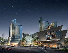 3D Shopping Mall night