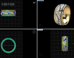 Wedding Ring MODEL 2 Print3D 3D Model