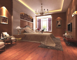 Hotel bedroom b2 32 3d model max for Posh bedroom designs
