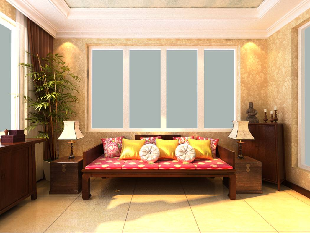 Classy drawing room with ritzy furniture 3d model max for Drawing room furniture pictures