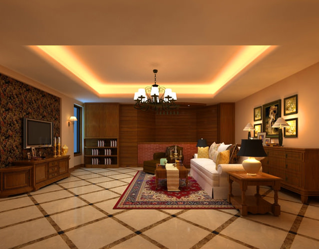 High End Living Room With Eminent Lighting 3D Model MAX