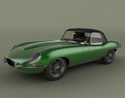 3D Jaguar E-type convertible