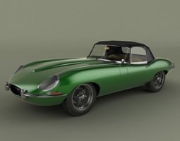 Jaguar E-type convertible 3D Model