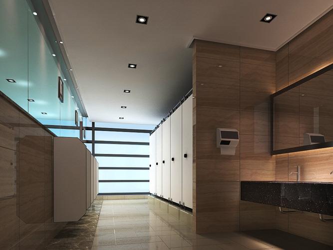 Aristocratic Public Washroom3D model