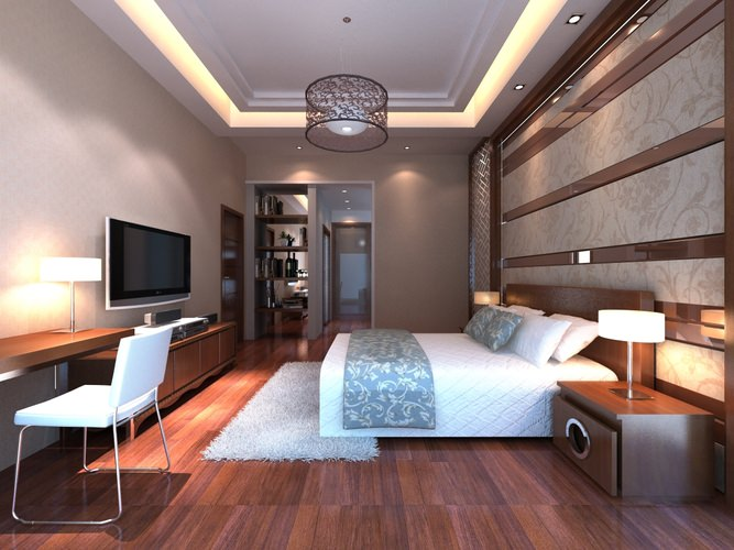 Bedroom with designer floor and side table 3d model max for 3d bedroom maker