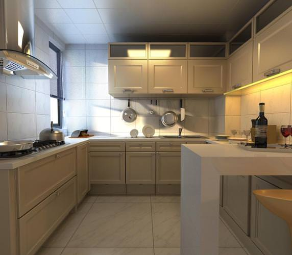 Aristocratic Kitchen with Cabinets3D model