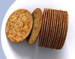 Salty cracker biscuit 3D model