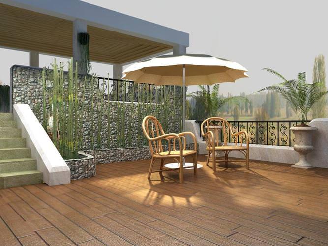Balcony with eminent furniture 3d model max for Balcony models