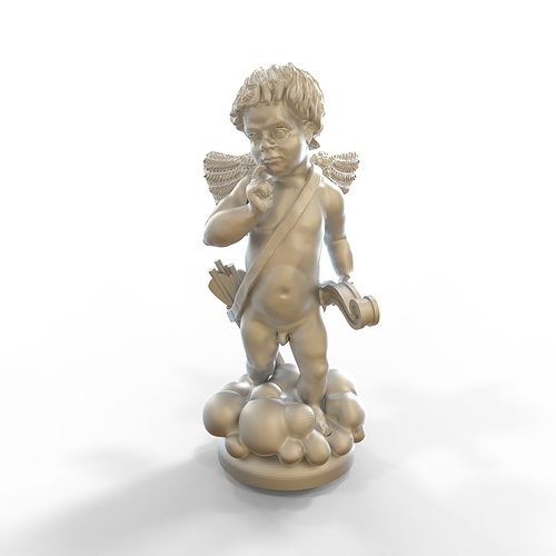 angel statue amur cupid stl 3d model stl 1