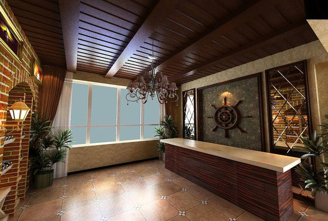 Lavish Hall Room3D model