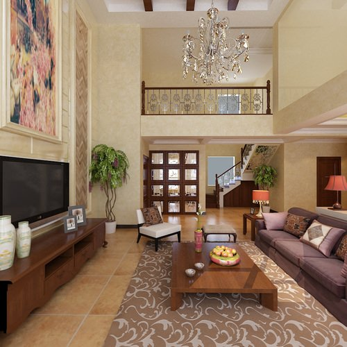 Carpeted modern drawing room 3d cgtrader for 3d bedroom drawing