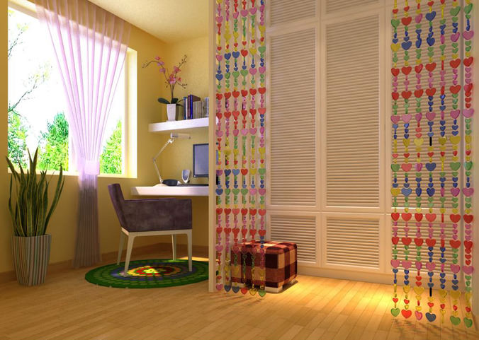 3d model children bedroom with small rug cgtrader for Small rug for bedroom