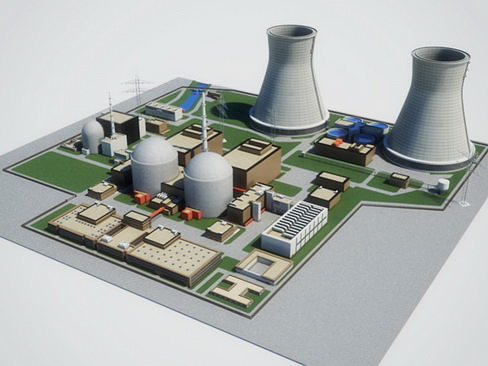 Nuclear Power Plant 3d Cgtrader