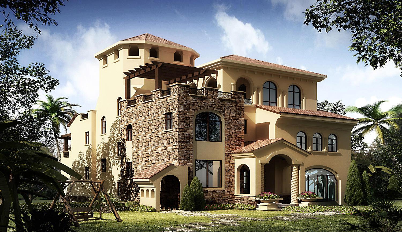 3d villa 015 3d model max for Villas 3d model