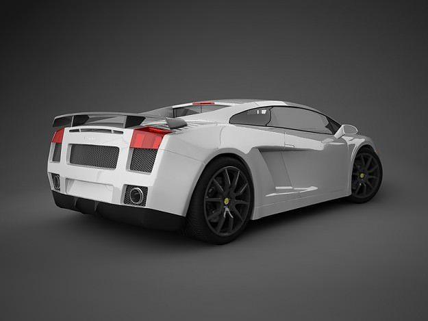 Superb Lamborghini Gallardo White 3d Model Max Obj 3ds 12