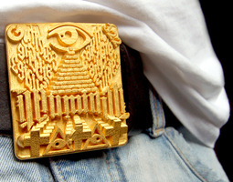 Illuminati Belt Buckle 3D Model