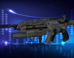 3D asset Modern Assault Rifle Accesories