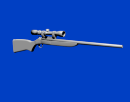 3D model A Highly Realistic Rifle