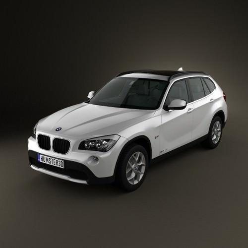 BMW X1 2010 3D Model MAX OBJ 3DS FBX C4D LWO LW LWS