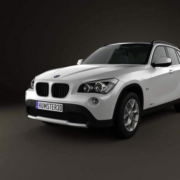 BMW X1 2010 3D Model .max .obj .3ds .fbx .c4d .lwo .lw