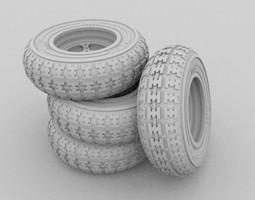 KTM Quadbike Wheel 3D Model