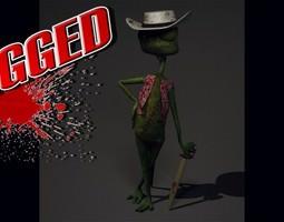3d lizard animated