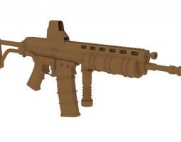 M4A1 High Poly Model 3D Model