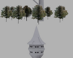 Forest tower 3D