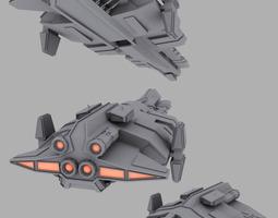 Human warship 3D Model