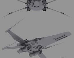 Mirkha fighter 3D Model