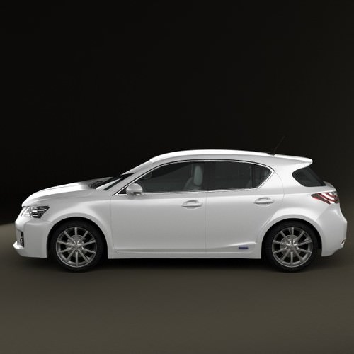 2011 Lexus Ct Suspension: Lexus CT 200h 2011 3D Model .max .obj .3ds .fbx .c4d .lwo
