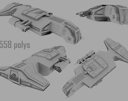 Capital ship 3D Model