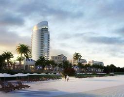 tropical beachfront resort 706 3d models