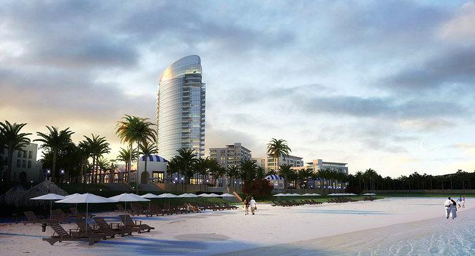 tropical beachfront resort 706 3d models 3d model max 1