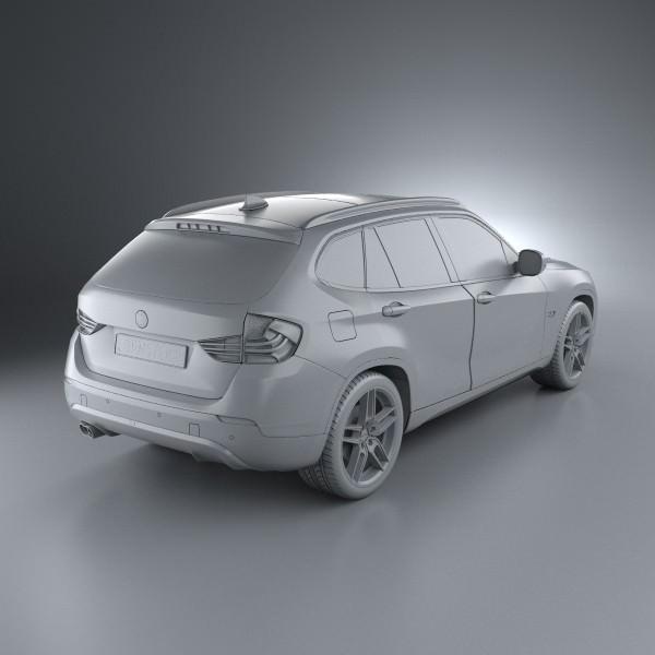 bmw x1 2010 ac schnitzer 3d model max obj 3ds c4d lwo lw lws ma mb. Black Bedroom Furniture Sets. Home Design Ideas